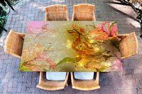Наклейка на стол - а где русалки? | Купить фотопечать на стол в магазине Интерьерные наклейки