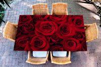 Наклейка на стол - Красные розы | Купить фотопечать на стол в магазине Интерьерные наклейки