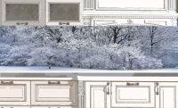 Фартук для кухни - Белый и пушистый купить в магазине Интерьерные наклейки