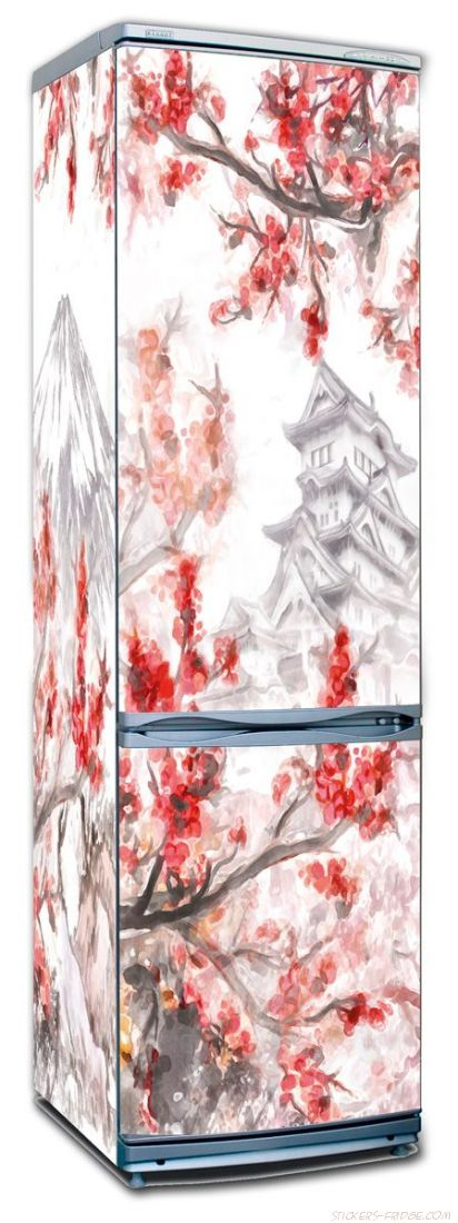 Наклейка на холодильник - Сакура