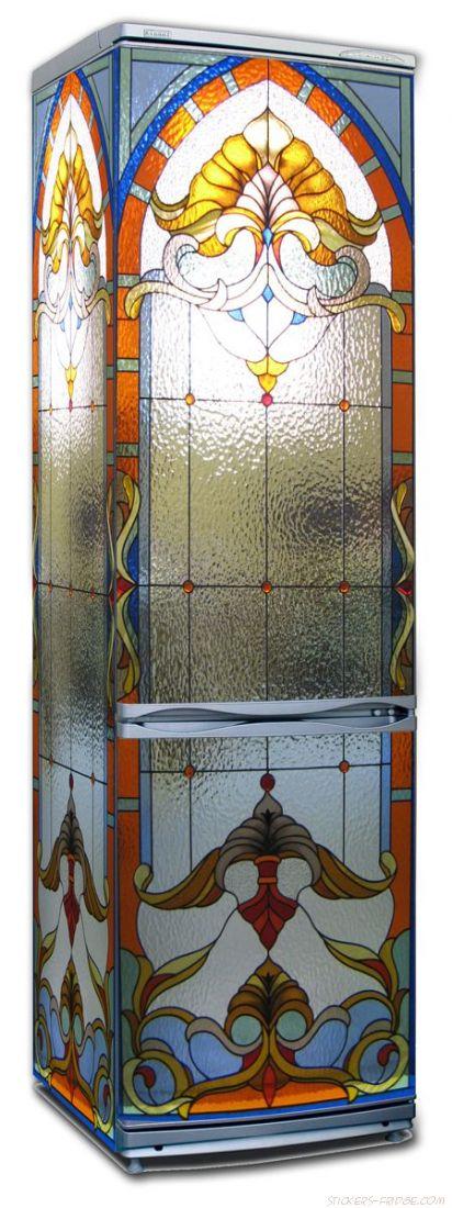 Наклейка на холодильник - Стеклянная дверь
