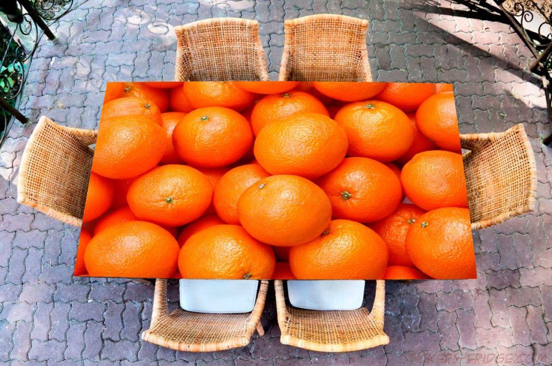 Наклейка на стол - Апельсин