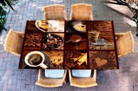 Наклейка на стол - Кофе 3   Купить фотопечать на стол в магазине Интерьерные наклейки