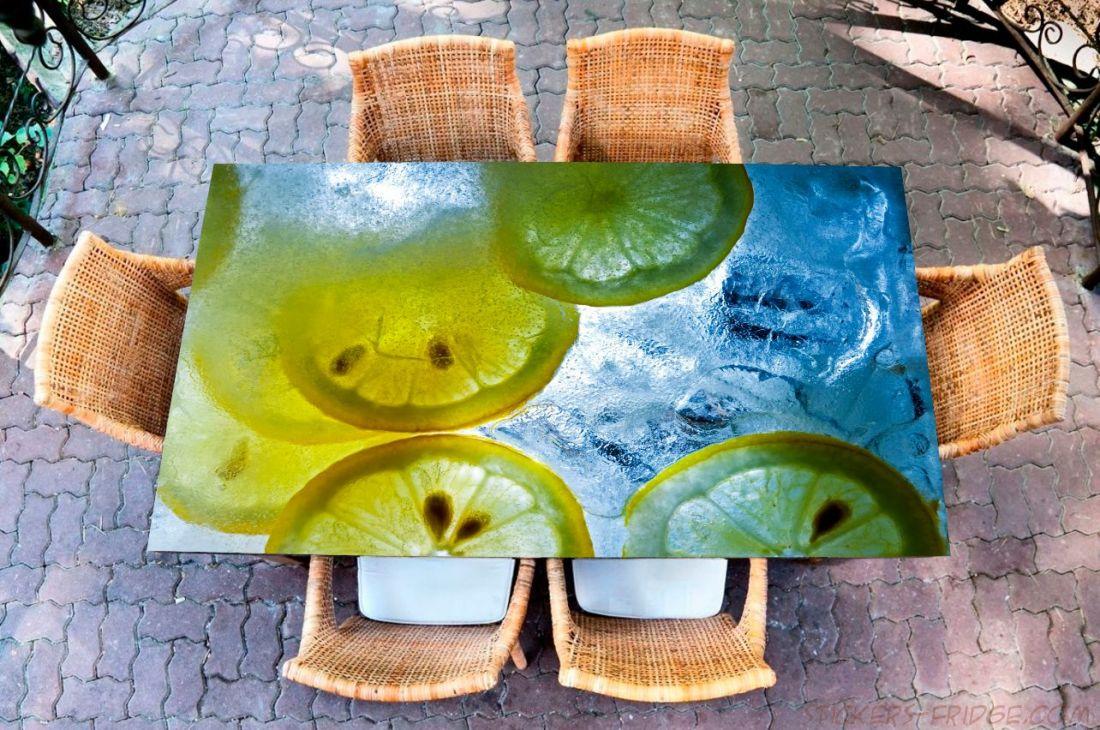 Наклейка на стол - Лимонная