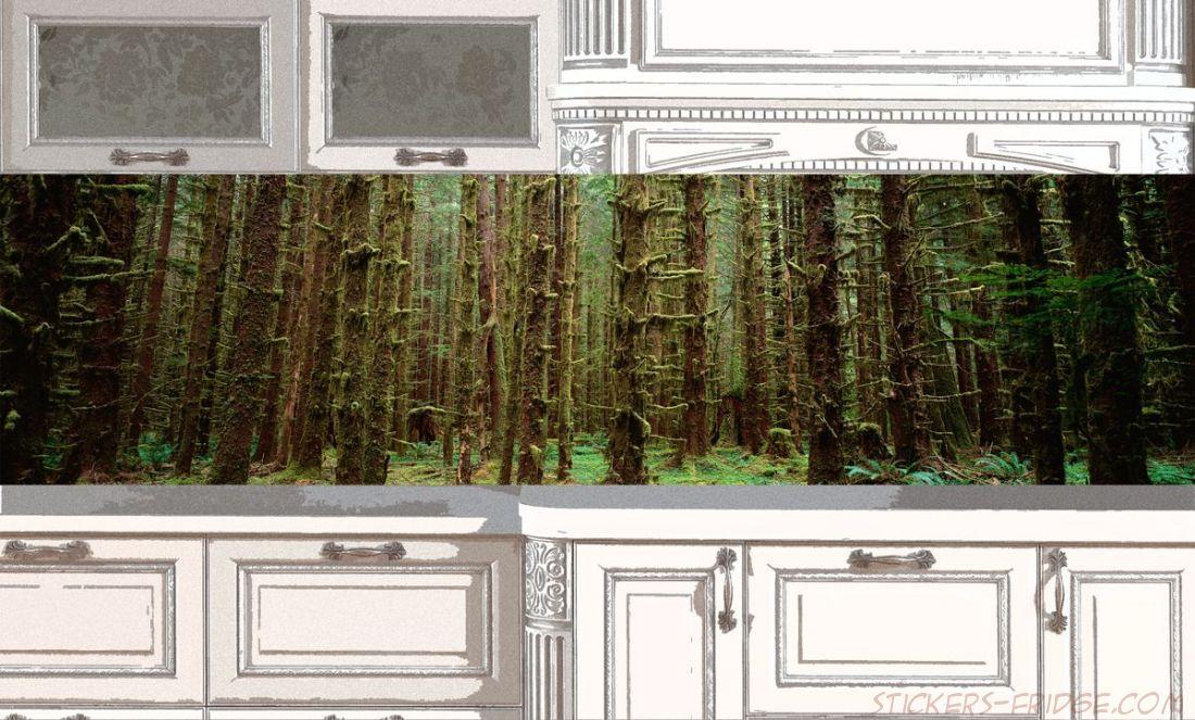 Фартук для кухни - Малахитовый лес