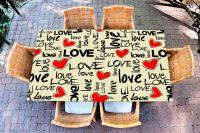 Наклейка на стол - I love 2   Купить фотопечать на стол в магазине Интерьерные наклейки