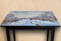 Наклейка на стол - Снег в Аржантее | Купить фотопечать на стол в магазине Интерьерные наклейки