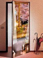 Наклейка на дверь - Два шага до лета купить в магазине Интерьерные наклейки